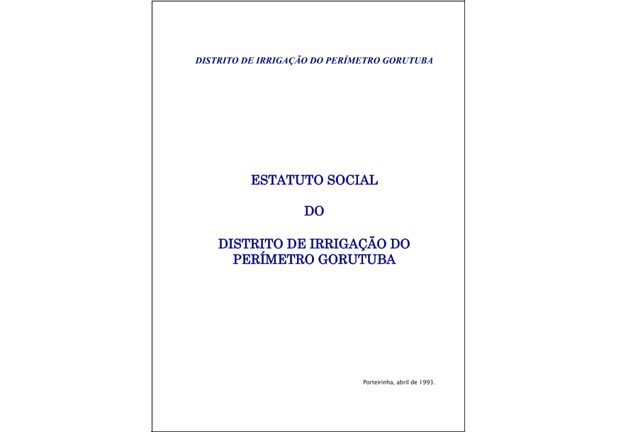 Estatuto Social do DIG